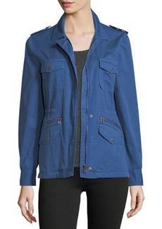 Velvet by Graham & Spencer Velvet Military-Style Zip-Front Jacket