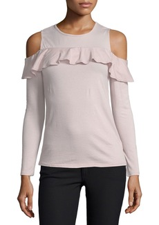 Velvet by Graham & Spencer Pepia Cold-Shoulder Top with Ruffled Frills