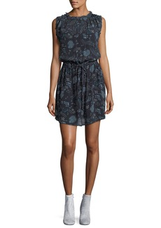 Velvet by Graham & Spencer Velvet Raelyn Round-Neck Floral-Print Dress