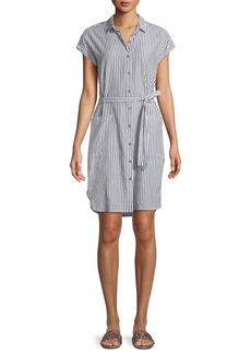 Sonay Striped Button-Front Shirtdress