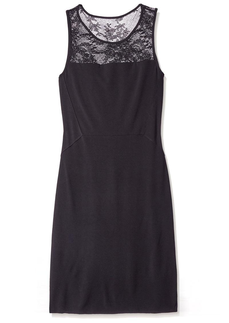 Velvet by Graham & Spencer Velvet Women's Sheath Dress with Lace  M