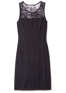 Velvet Women's Sheath Dress with Lace  XS