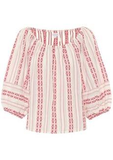 Velvet by Graham & Spencer Vivette striped cotton blouse