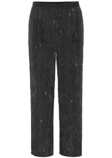 Velvet by Graham & Spencer Wide-leg sequinned pants