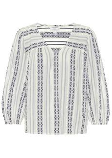 Velvet by Graham & Spencer Winter striped cotton blouse