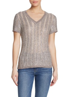 Velvet by Graham & Spencer Woven Knit V-Neck Top
