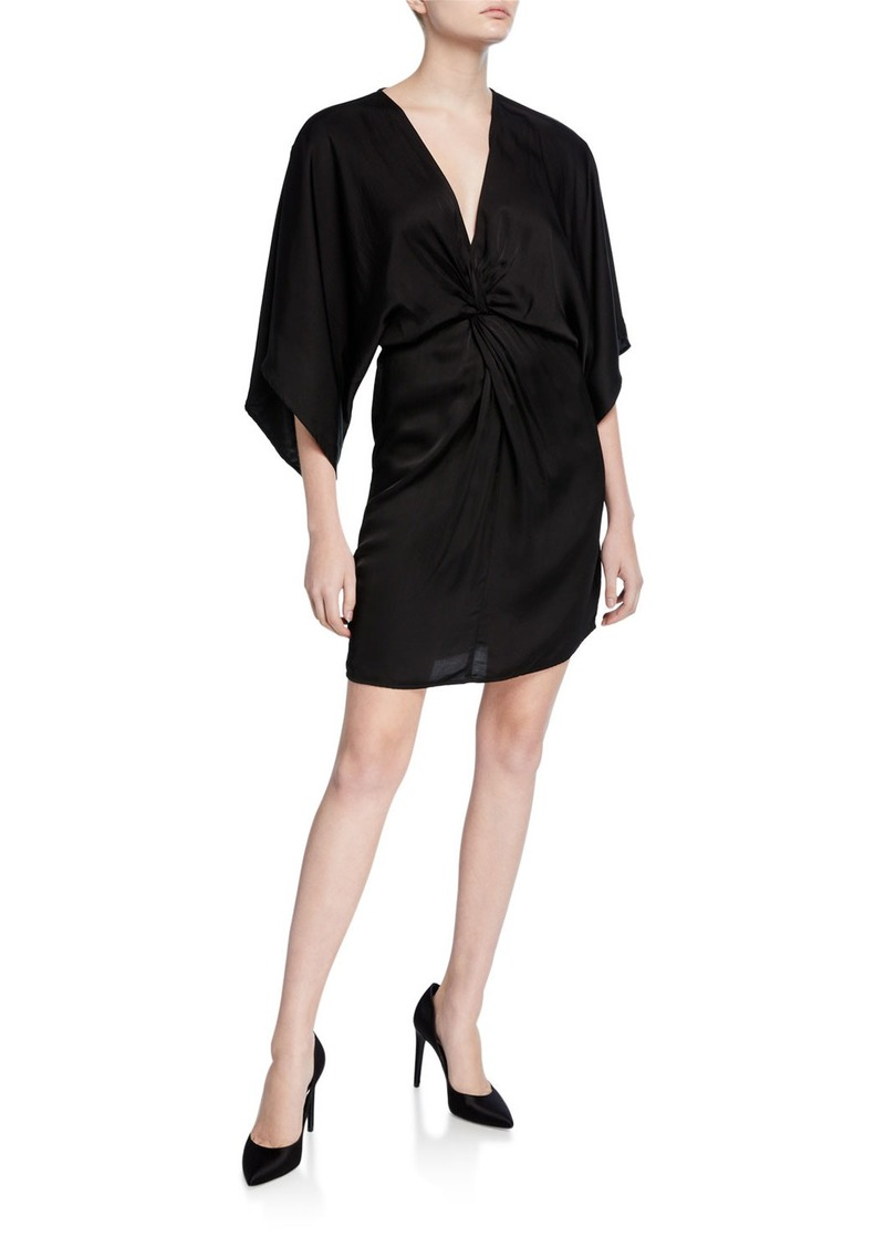 Velvet by Graham & Spencer Zoey Twisted Kimono-Sleeve Dress