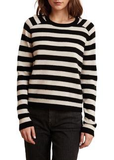 Velvet by Graham & Spencer Zuri Striped Cashmere Sweater