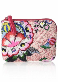Vera Bradley Iconic Coin Purse Signature Cotton Stitched Flowers