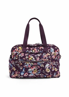 Vera Bradley Iconic Deluxe Weekender Travel Bag Signature Cotton