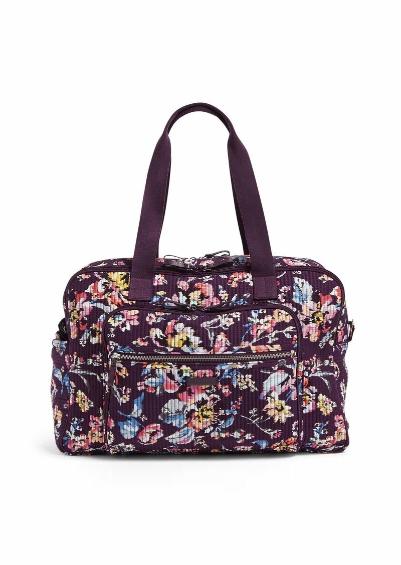Vera Bradley Iconic Deluxe Weekender Travel Bag Signature Cotton