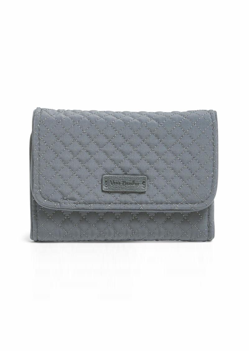Vera Bradley Iconic RFID Riley Compact Wallet  Microfiber