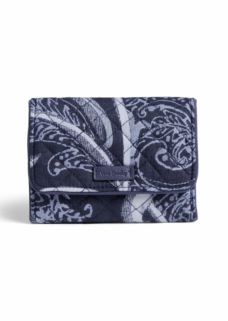 Vera Bradley Iconic RFID Riley Compact Wallet Signature Cotton