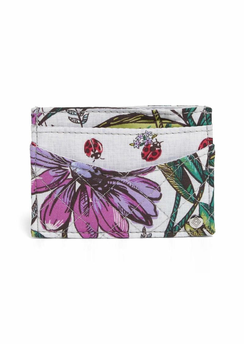 Vera Bradley Iconic Slim Card Case Signature Cotton