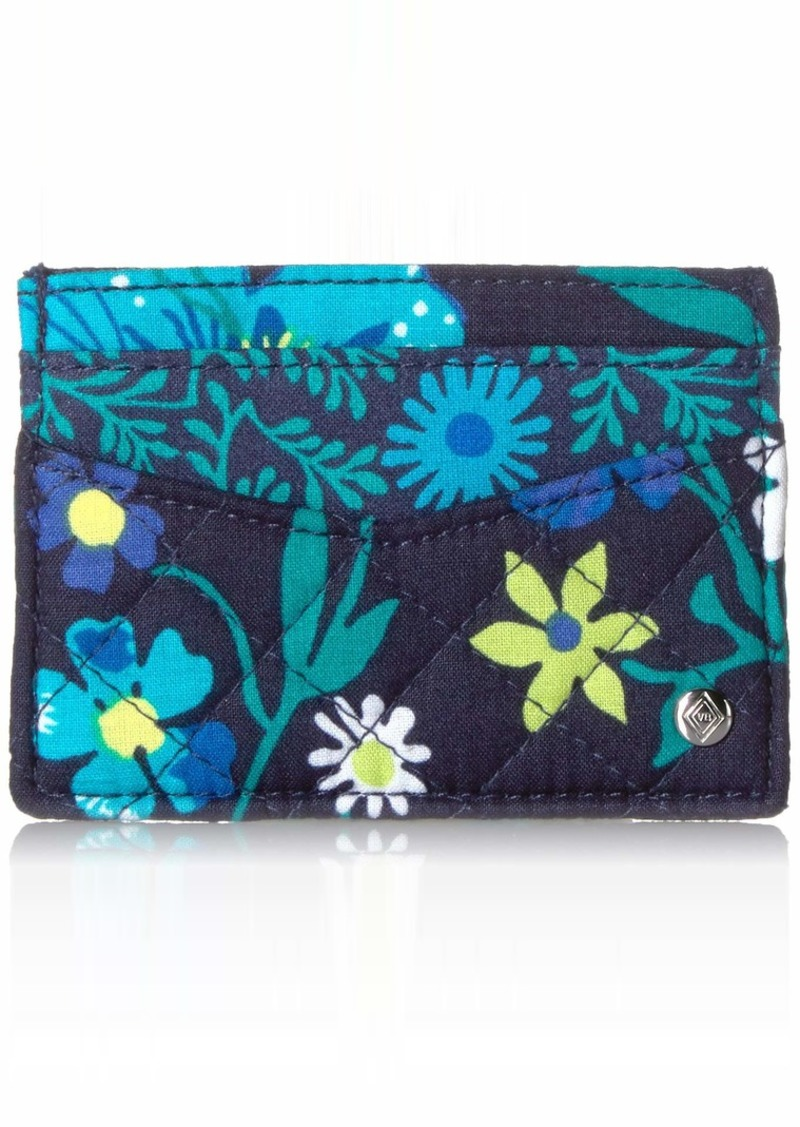 Vera Bradley Iconic Slim Card Case Signature Cotton moonlight Garden