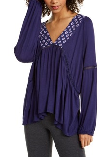 Vera Bradley Isabella Jersey Lattice-Lace Sleep Top