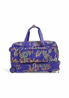 Vera Bradley Lighten Up Foldable Rolling Duffel Polyester