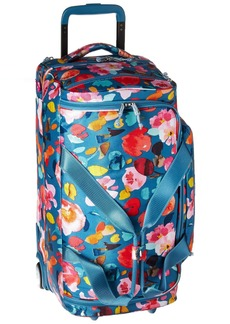 Vera Bradley Lighten Up Foldable Rolling Duffel Polyester scattered Superbloom