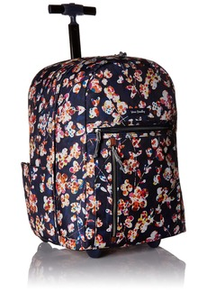 Vera Bradley Lighten up Large Rolling Backpack Polyester