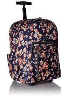 Vera Bradley Lighten Up Large Rolling Backpack Polyester cut vines