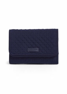 Vera Bradley Microfiber Riley Compact Wallet with RFID Protection