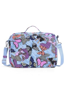 Vera Bradley Recycled Cotton Grand Vanity Toiletry Makeup Organizer Case Butterfly by