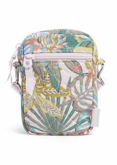Vera Bradley Recycled Cotton Small Convertible Crossbody Purse with RFID Protection