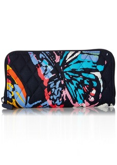 Vera Bradley RFID Georgia Wallet Signature Cotton butterfly flutter