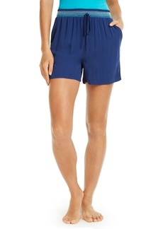 Vera Bradley Smocked-Waist Sleep Shorts