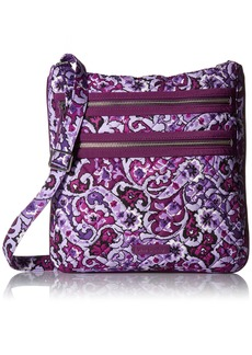 Vera Bradley Triple Zip Hipster lilac paisley