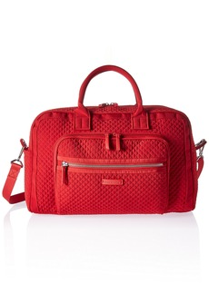 Vera Bradley Women's Iconic Compact Weekender Travel Bag Vera Cardinal Red