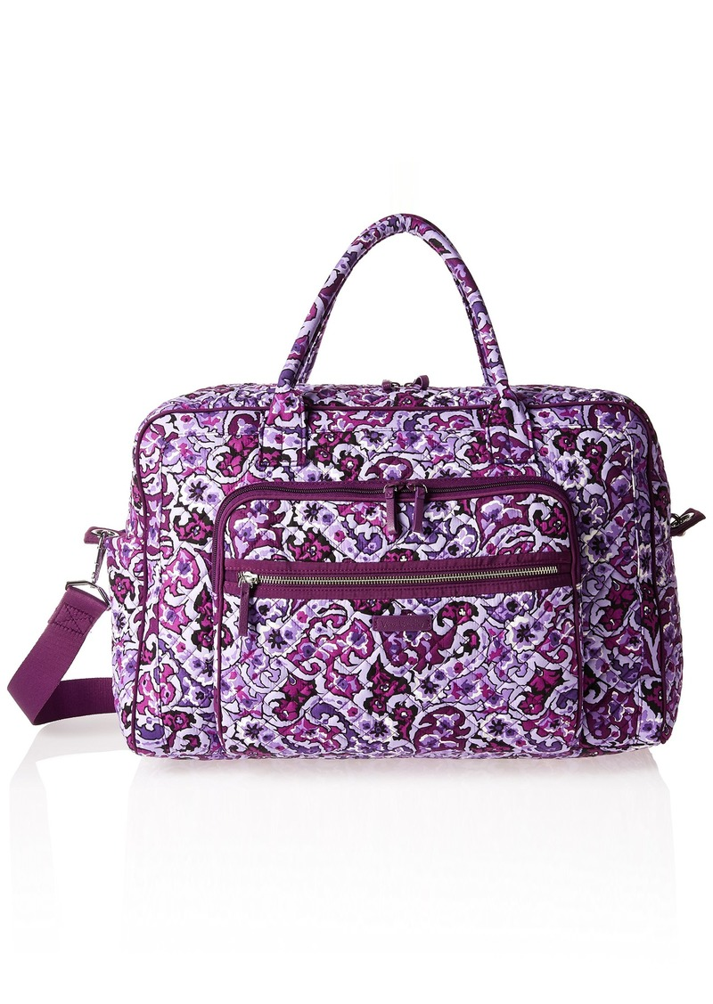 Vera Bradley Vera Bradley Women s Iconic Weekender Travel Bag ... 1e3de59475ce0