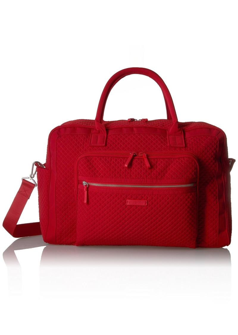 Vera Bradley Women's Iconic Weekender Travel Bag Vera Cardinal red