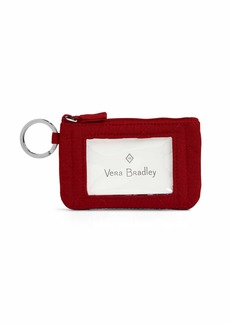Vera Bradley Women's Iconic Zip Id Case Vv Cardinal red