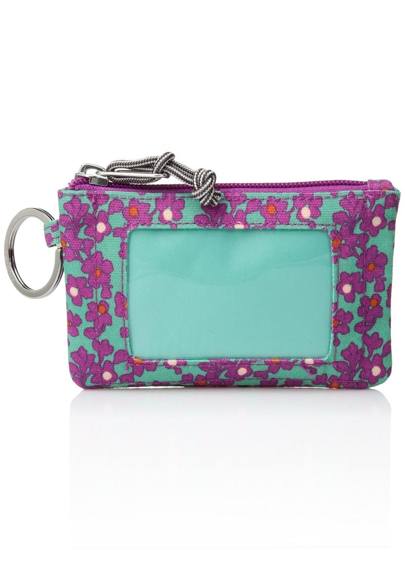 Vera Bradley Women's Lighten Up Printed Dot Zip Id Case Ditsy