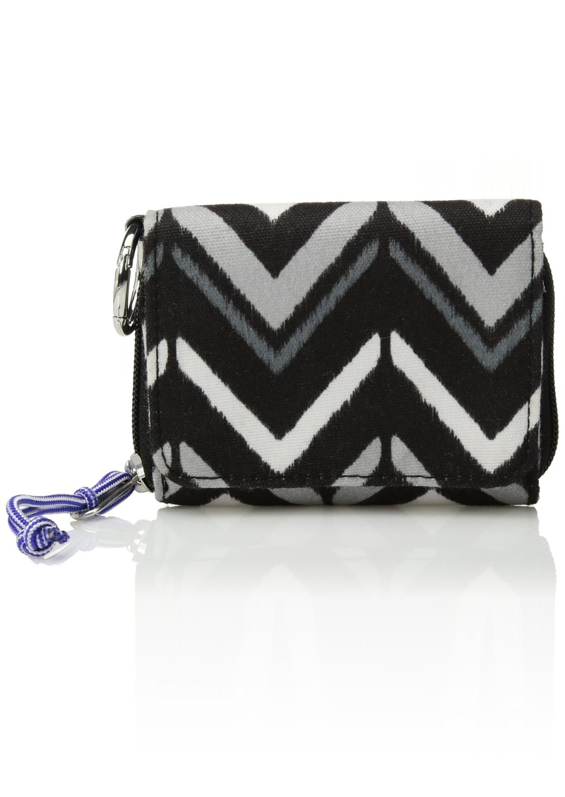 Vera Bradley Women's Lighten Up RFID Card Case lotus chevron