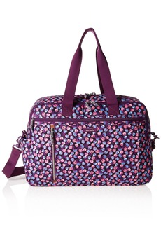 Vera Bradley Women's Lighten Up Weekender Travel Bag Berry Burst