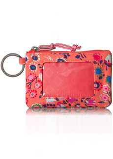 Vera Bradley Women's Lighten up Zip Id Case Coral Meadow