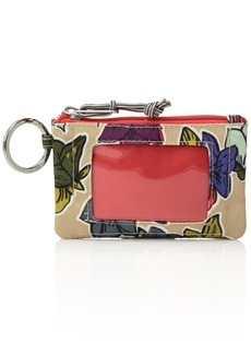 Vera Bradley Women's Lighten Up Zip Id Case falling flowers neutral
