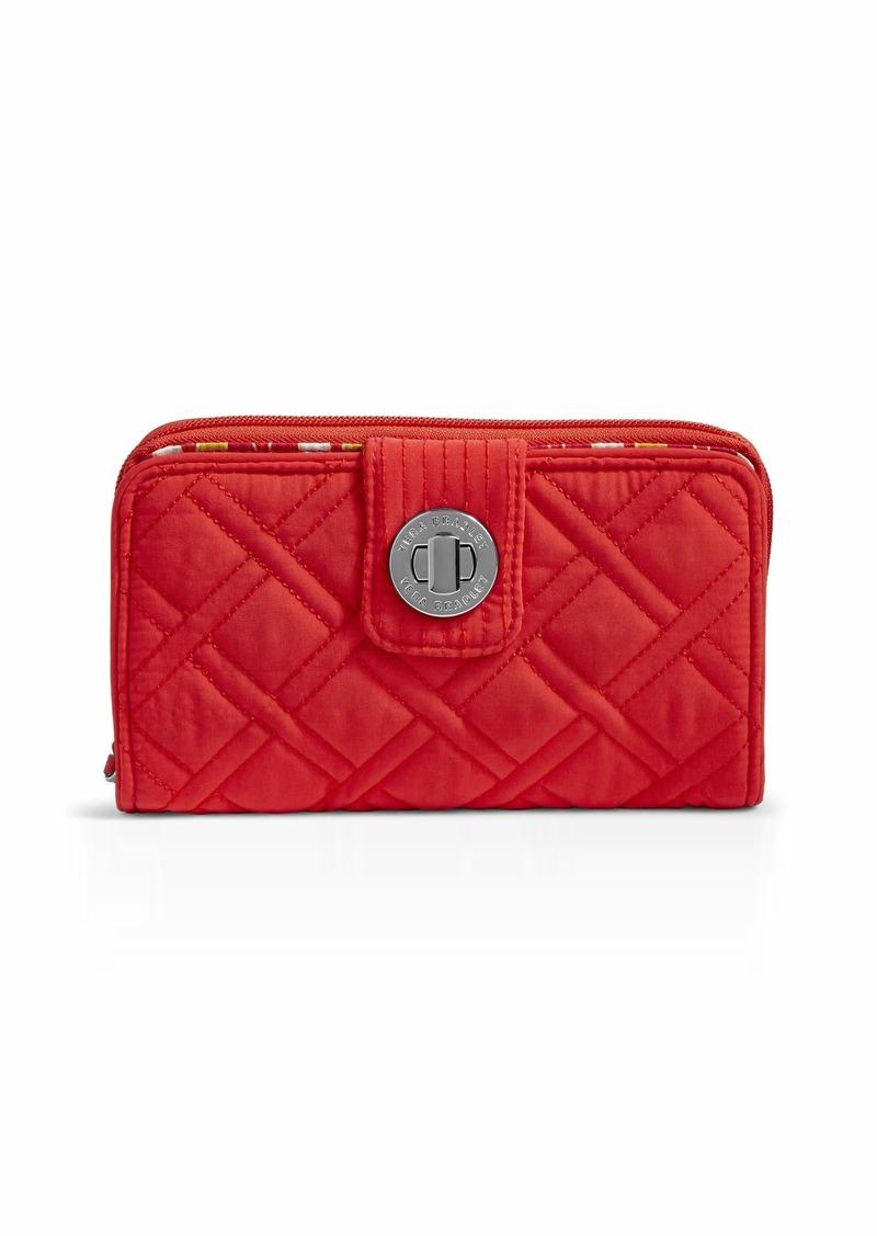 Vera Bradley RFID Turnlock Wallet Microfiber