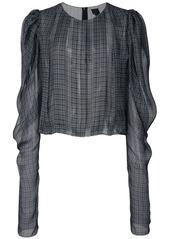 Vera Wang checkered print loose blouse