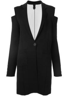 Vera Wang cold shoulder knit coat