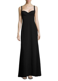 Vera Wang Crepe A-Line Gown