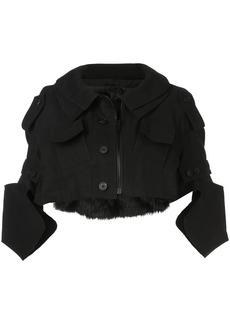 Vera Wang cropped military jacket