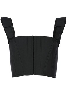 Vera Wang cropped vest top