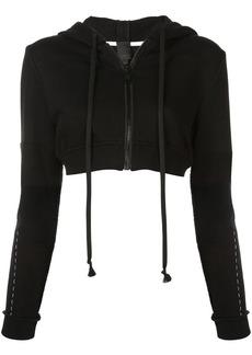 Vera Wang cropped zip hoodie