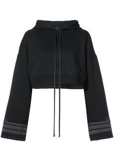 Vera Wang cuffs detail cropped hoodie