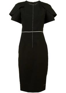 Vera Wang fitted short sleeve dress