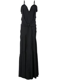 Vera Wang flared maxi dress