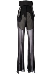 Vera Wang flared transparent styled trousers